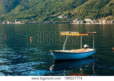 Yachts and boats in the Adriatic Sea, in Montenegro