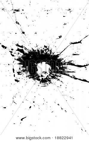 Bullethole illustration