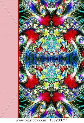 Design of beautiful spiral ornamental notebook cover