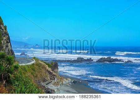 Beautiful scenery of West coast in Punakaiki South Island of New Zealand