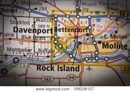 Quad Cities On Map
