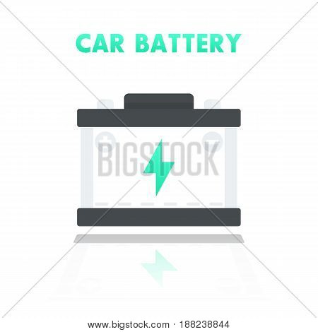 car battery, accumulator icon in flat style, eps 10 file, easy to edit