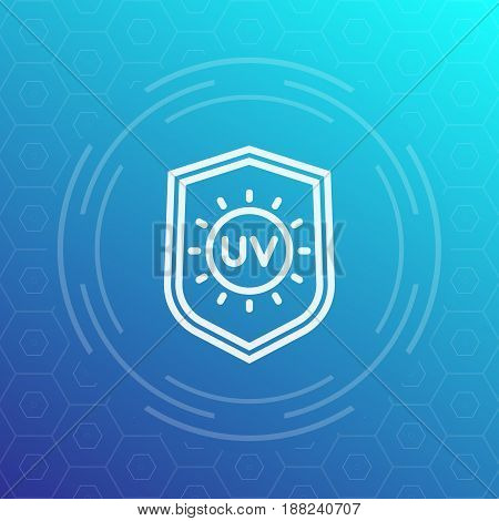 UV protection line icon, vector symbol, eps 10 file, easy to edit