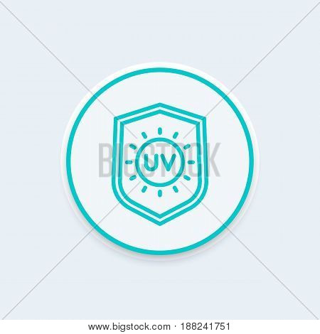 UV protection line icon, eps 10 file, easy to edit