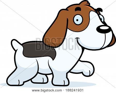 Cartoon Beagle Walking