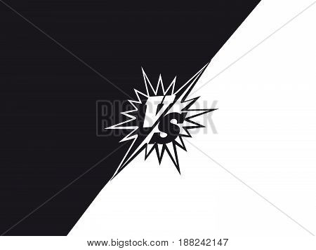 Black and white versus fighting background concept. Vector illustration
