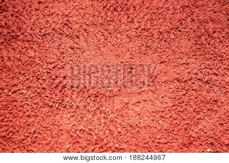 Red carpet texture with short fiber Abstract background and texture for designers