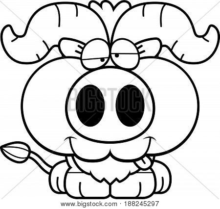 Cartoon Goofy Little Ox