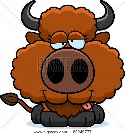 Cartoon Goofy Buffalo
