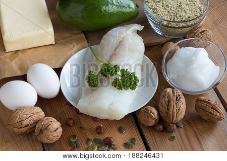 Healthy Fats - Fish, Avocado, Butter, Eggs, Nuts And Seeds