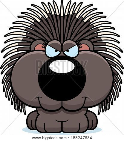Cartoon Sly Porcupine