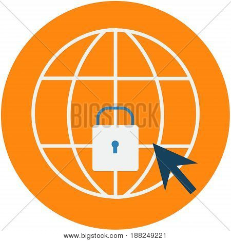 Cyber Security Protection Abstract Icon. Computer security conceptual illustration isolated vector. Transparent.