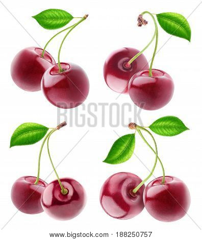 Collection Of Isolated Cherry Fruits