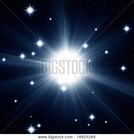 Bright blue star