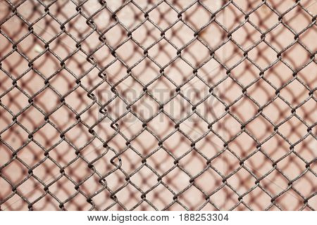 the image old metal mesh texture shadow