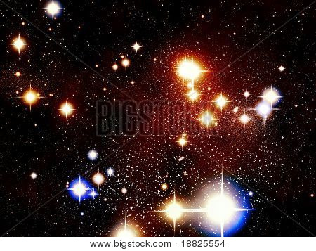 Colorful stars in universe