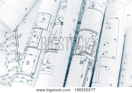 Lots Of Rolls Floor Plan Drawings On Architects Workspace
