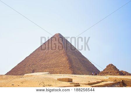 Pyramid of Egypt. View of the Giza Pyramids. Egypt. Cairo