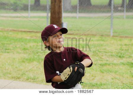 Little Boy Baseball Pitcher