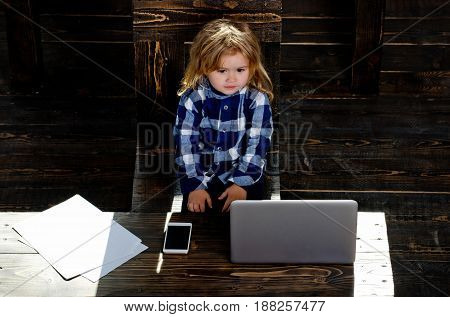 business success and innovation childhood and happiness feeling and emotions education and modern technology communication and blogging