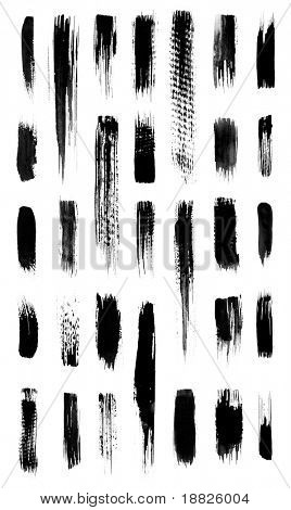 Calligraphic grungy brushes lot