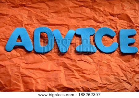 word advice on a  absstract  colorful background