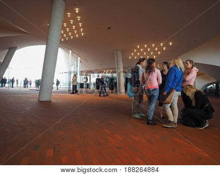 Elbphilharmonie Concert Hall Plaza In Hamburg