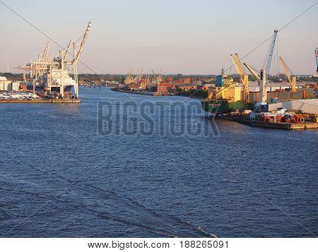 Port Of Hamburg In Hamburg