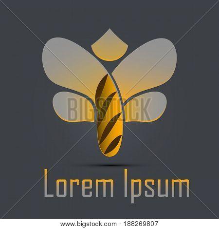 Bee Logo design. Fully editable vector image.