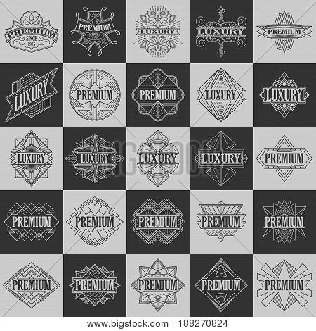 Set of vintage badges. Logo templates. Design elements. Vector illustration