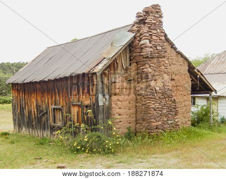 Mud House, built in 1882 with mud to protect from Indian attacks. Payson, AZ
