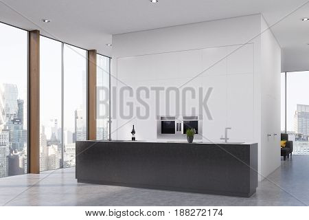 Kitchen With A Bar, Corner