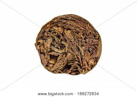 Cuban Cigar Closeup Isolated Over White Background