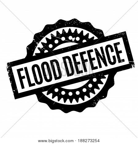 Flood Defence rubber stamp. Grunge design with dust scratches. Effects can be easily removed for a clean, crisp look. Color is easily changed.