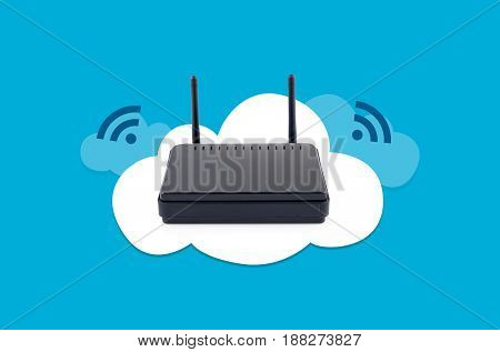 Wireless Router On Cloud Composition