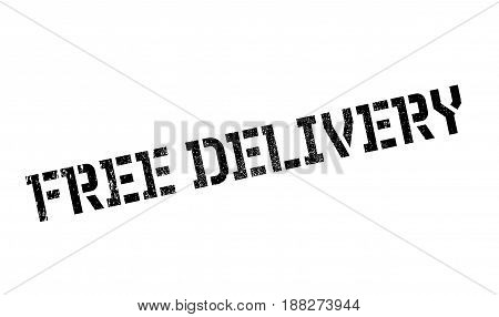 Free Delivery rubber stamp. Grunge design with dust scratches. Effects can be easily removed for a clean, crisp look. Color is easily changed.