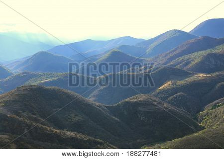 Hills landscape, Hillscape in Mexico near Oaxaca