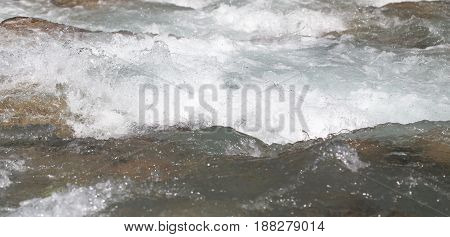 background of whitewater on the river . A photo