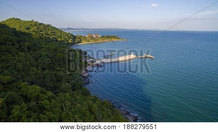 top view of khao laem ya national park rayong eastern thailand most popular traveling destination