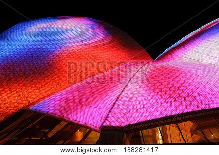 Sydney Opera House Duirng Vivid Sydney