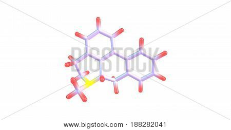 Aporphine is one of a class of quinoline alkaloids. Many different relatives of this compound have been purified from plants. 3d illustration
