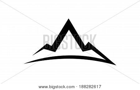 This image describe about Mountain icon Template