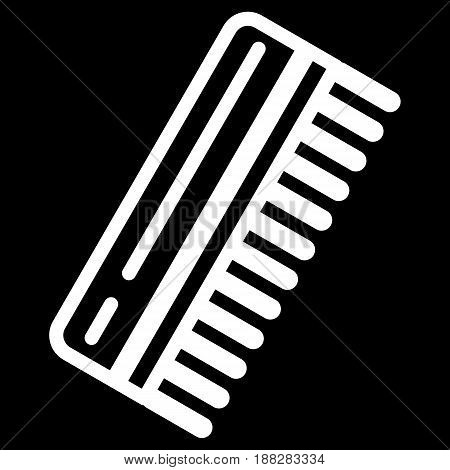 Comb for man vector icon. Black and white comb illustration. Outline linear beauty and care icon. eps 10
