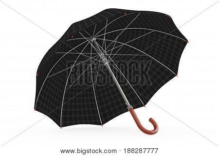 Big Modern Luxury Umbrella on a white background. 3d Rendering.