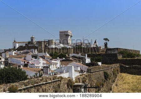 view of Estremoz a village in alentejo, Portugal