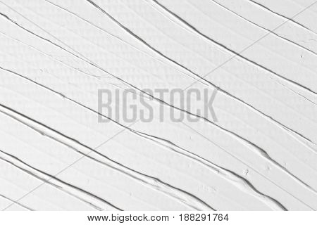 White Relief Background Stucco Texture Decorative Abstract Plaster Stripe Repair Design Concept
