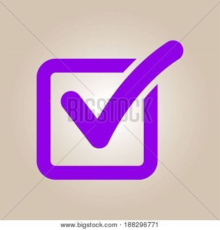 Check list button icon. Check mark in box sign.