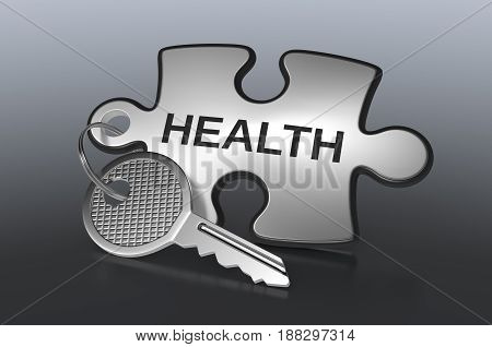 Jigsaw Puzzle With A Key