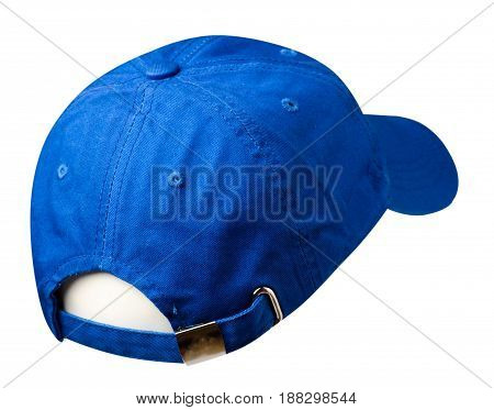 Sports Cap Isolated On A White Background . Blue Cap