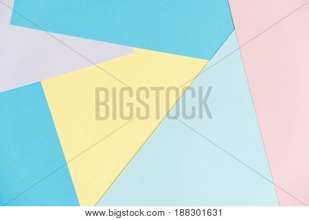 Blue And Pink Pastel Color Paper Texture Background. Abstract Geometric Paper Background. Trend Colo